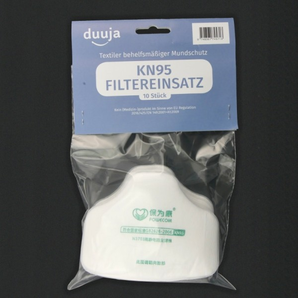 Inlay filters KN95 (set of 10)