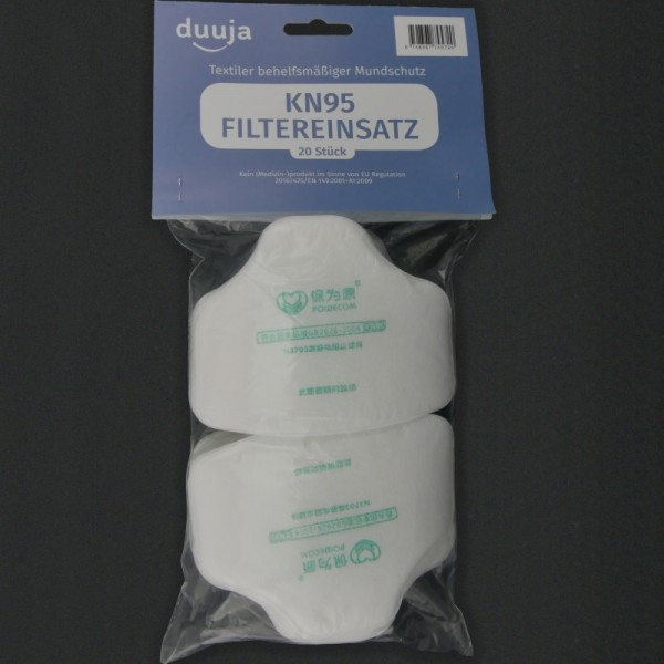 Inlay filters KN95 (set of 20)